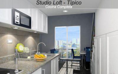 Venta de apartamento estudio loft, Zona 15