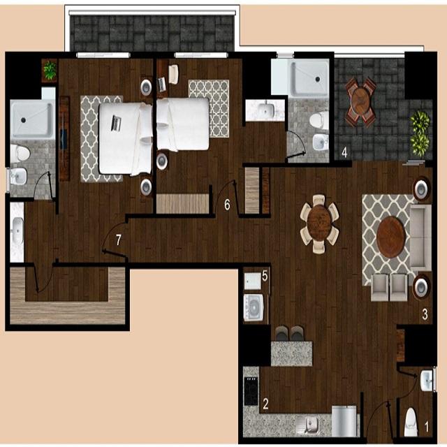 Moderno apartamento con Aire acondicionado, Zona 14